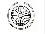 "Mahogany Maple     Round Ornament  6""W x 3/4""D x 6""H"