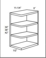 WES536 Wall End Shelf Cabinet