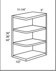 WES542 Wall End Shelf Cabinet