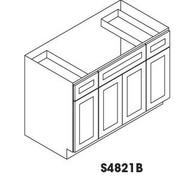 "Vanity Base Cabinet Center Sink  48""W x 21""D x 34.5""H  S4821B"