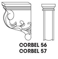 "Corbel 56  3""w x 6""h x 4""d"