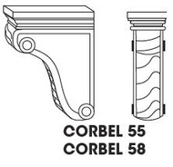 "Corbel 58  3""w x 9""h x 6""d"