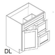 """Avalon  Vanity Base Cabinet  Door on the Left  30""""W x 21""""D x 34.5""""H  FA3021DL"""