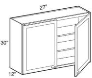 """Castle Grey Shaker  Wall Cabinet 27"""" W x 30"""" H x 12"""" D"""