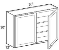 """Castle Grey Shaker  Wall Cabinet 36"""" W x 30"""" H x 12"""" D"""