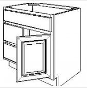 "Castle Grey Shaker   Vanity Base Cabinet 30"" W x 33"" H x 21"" D Door on right"