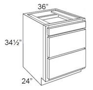 "Hazel Maple    Base Drawer Cabinet   36""W x 24""D x 34 1/2""H  DB36-3"