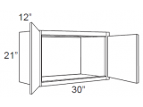 "Hazel Maple   Wall Cabinet   30""W x 12""D x 21""H  W3021"