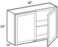 "Hazel Maple   Wall Cabinet   36""W x 12""D x 24""H  W3624"