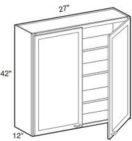"Hazel Maple   Wall Cabinet   27""W x 12""D x 42""H  W2742"