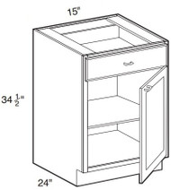 "Smoky Gray  Base Cabinet   15""W x 24""D x 34 1/2""H  B15"