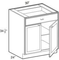 "Smoky Gray  Base Cabinet   30""W x 24""D x 34 1/2""H  B30"