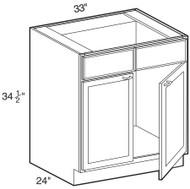 "Smoky Gray  Sink Base Cabinet   33""W x 24""D x 34 1/2""H  SB33"