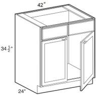 "Smoky Gray   Sink Base Cabinet   42""W x 24""D x 34 1/2""H  SB42"