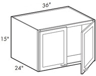Smoky Gray  W361524 Wall Cabinet