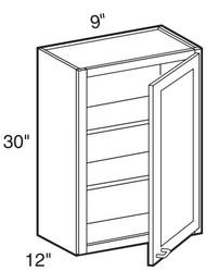 """Smoky Gray   Wall Cabinet   9""""W x 12""""D x 30""""H  W0930"""
