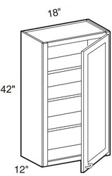 """Smoky Gray   Wall Cabinet   18""""W x 12""""D x 42""""H  W1842"""