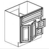 "Gregi Maple Vanity Base Cabinet  Door on the Left  36""W x 21""D x 33""H  FA3621DL"
