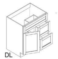 "Mocha Maple Glaze Vanity Base Cabinet  Door on the Left  30""W x 21""D x 33""H  FA3021DL"