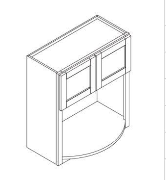 "Mahogany Maple Microwave Cabinet   27""W x 12""D x 42""H  WBL2742"
