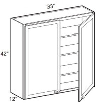 "Mahogany Maple Wall Cabinet   33""W x 12""D x 42""H  W3342"