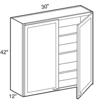 "Mahogany Maple Wall Cabinet   30""W x 12""D x 42""H  W3042"