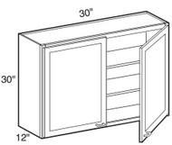 """Mocha Maple Glaze Wall Cabinet   30""""W x 12""""D x 30""""H  W3030"""