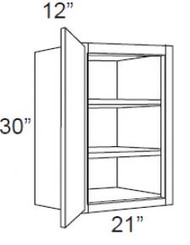"Gregi Maple Wall Cabinet   21""W x 12""D x 30""H  W2130"