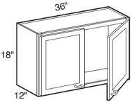 "Espresso Maple Wall Cabinet   36""W x 12""D x 18""H  W3618"