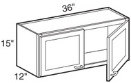 "Espresso Maple Wall Cabinet   36""W x 12""D x 15""H  W3615"