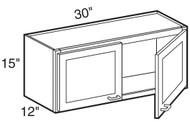 """Mocha Maple Glaze Wall Cabinet   30""""W x 12""""D x 15""""H  W3015"""