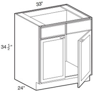 "Chocolate Maple Glaze Sink Base Cabinet   33""W x 24""D x 34 1/2""H  SB33"