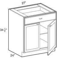 "Espresso Maple Base Cabinet   27""W x 24""D x 34 1/2""H  B27"