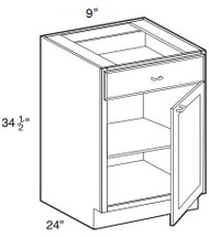 "Black Coffee Maple Base Cabinet   9""W x 24""D x 34 1/2""H  B09"