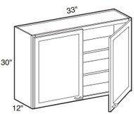 "Pearl Maple Glaze Wall Cabinet   33""W x 12""D x 30""H  W3330"