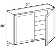 "Pearl Maple Glaze Wall Cabinet   30""W x 12""D x 30""H  W3030"