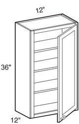 "Pearl Maple Glaze Wall Cabinet   12""W x 12""D x 36""H  W1236"