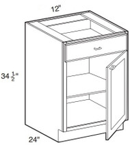"""Ebony Shaker Base Cabinet   12""""W x 24""""D x 34 1/2""""H  B12"""