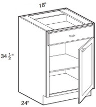 """Ebony Shaker  Base Cabinet   18""""W x 24""""D x 34 1/2""""H  B18"""