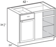 "Ebony Shaker  Base Blind Corner Cabinet   42""W x 24""D x 34 1/2""H  BBC42"
