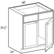 """Ebony Shaker  Sink Base Cabinet 36"""" W x 34 1/2"""" H x 24"""" D"""