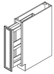 "Ebony Shaker Base Spice Drawer Cabinet   6""W x 24""D x 34 1/2""H  BSR06"