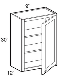 "Avalon  Wall Cabinet   9""W x 12""D x 30""H  W0930"