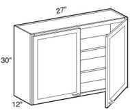 "Dove White   Wall Cabinet   27""W x 12""D x 30""H  W2730"