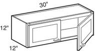 """Ebony Shaker  Wall Cabinet   30""""W x 12""""D x 12""""H  W3012"""