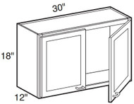 "Avalon   Wall Cabinet   30""W x 12""D x 18""H  W3018"
