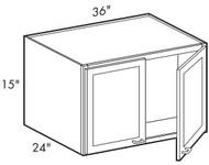 Ebony Shaker   W361524 Wall Cabinet
