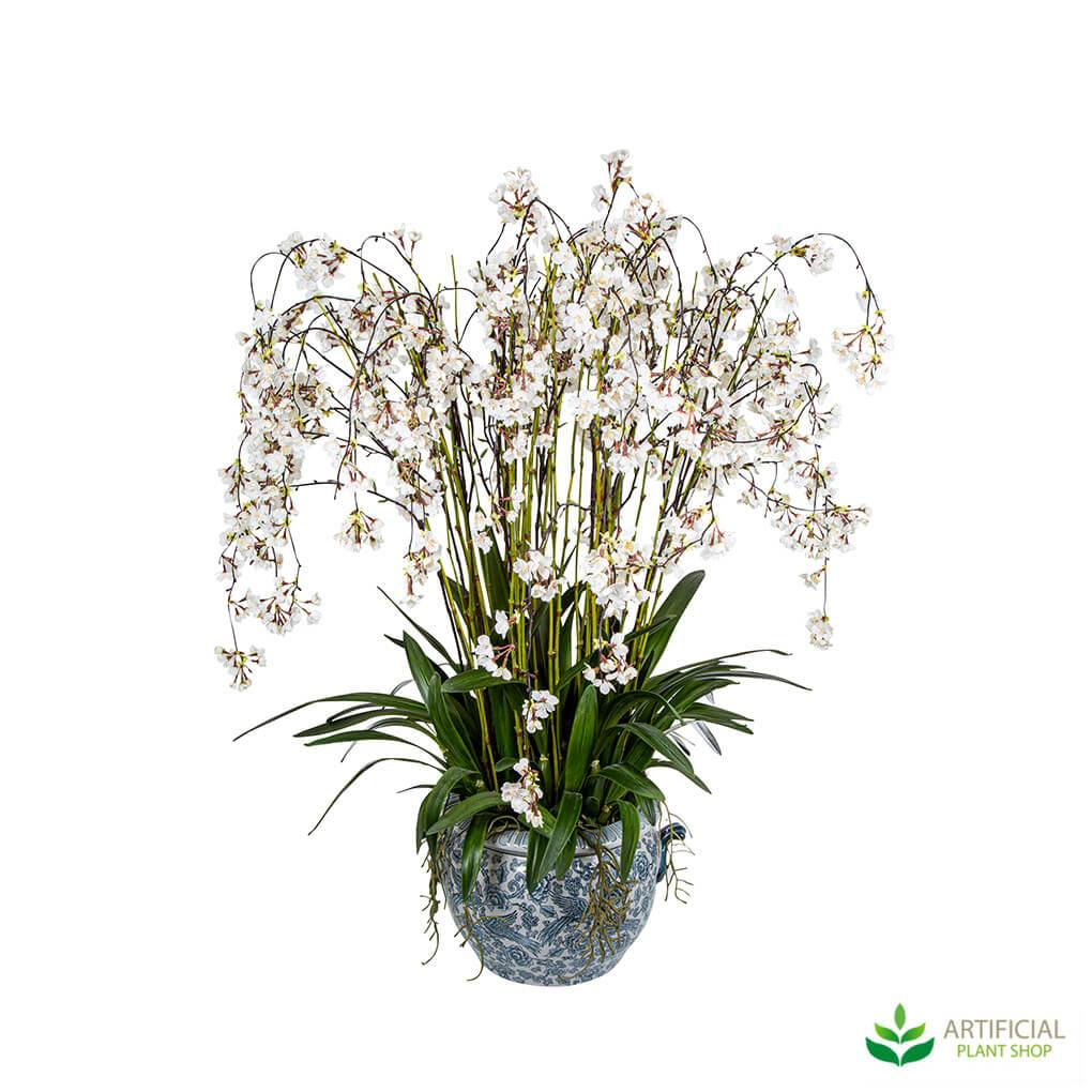White Blossom Flower Arrangement potted