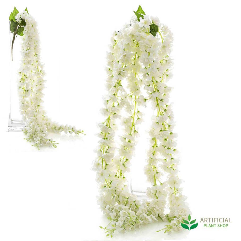 Artificial Garlands - White Blossom