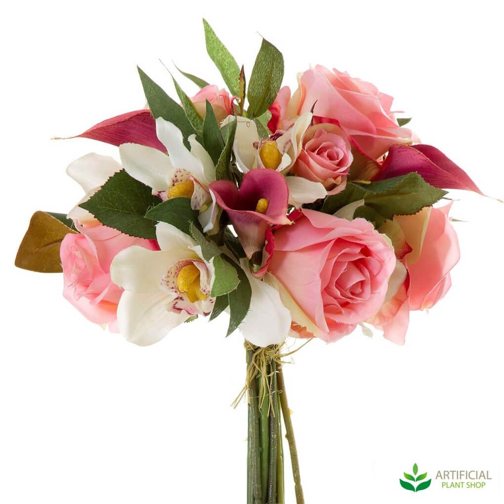 Mixed artificial flower bouquet